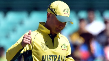 Thumbs up: Michael Clarke was pleased after winning the toss