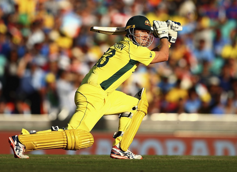 But Shane Watson and James Faulkner crashed 36 in the 4.2 overs to keep Australia on course for 300