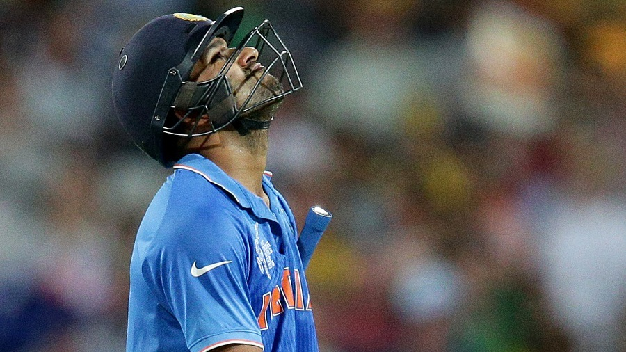 India's woes were compounded when Rohit Sharma and Suresh Raina followed soon after, leaving the team at 108 for 4