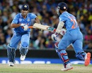 MS Dhoni and Ajinkya Rahane added 70 for the fifth wicket, Australia v India, World Cup 2015, 2nd semi-final, Sydney, March 26, 2015