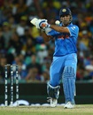 MS Dhoni winds up for a big blow, Australia v India, World Cup 2015, 2nd semi-final, Sydney, March 26, 2015