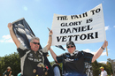 Daniel Vettori fans make their voices heard, Australia v New Zealand, World Cup 2015, final, Melbourne, March 29, 2015
