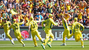 It's joy unbridled for Australia after Brendon McCullum's duck