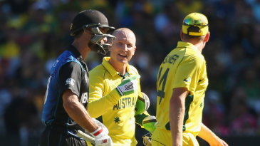 Brad Haddin was in a chatty mood at the final