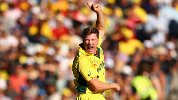 James Faulkner is pumped up after getting Ross Taylor