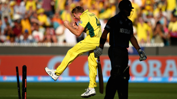 James Faulkner sent Corey Anderson back without scoring