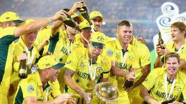 Michael Clarke gets in the middle of celebrations