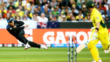 Brendon McCullum aims for the stumps
