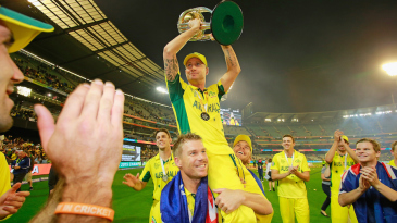 David Warner carries Michael Clarke on a lap