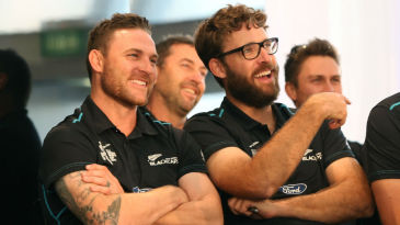 Brendon McCullum and Daniel Vettori at a function organised for the returning players
