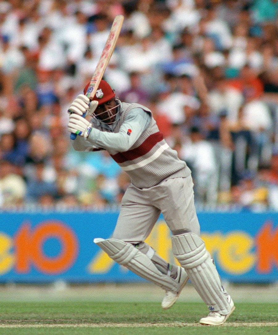 Desmond Haynes on his way to 56 against Australia