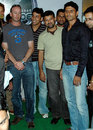 Indian Cricket League players Chris Harris, Azhar Mahmood, Moin Khan and Abdul Razzaq pose at an event in Hyderabad. The ICL players are in the city for a ten-day camp ahead of the tournament commencing in Chandigarh from 30 November, Hyderabad, November 18, 2007