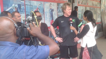Ian Pont being interviewed in India