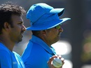 Bharat Arun supervising the bowlers during training, World Cup 2015, Perth, February 27, 2015