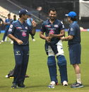 Talent meets greatness: Rohit Sharma receives expert advice, Kolkata, April 7, 2015