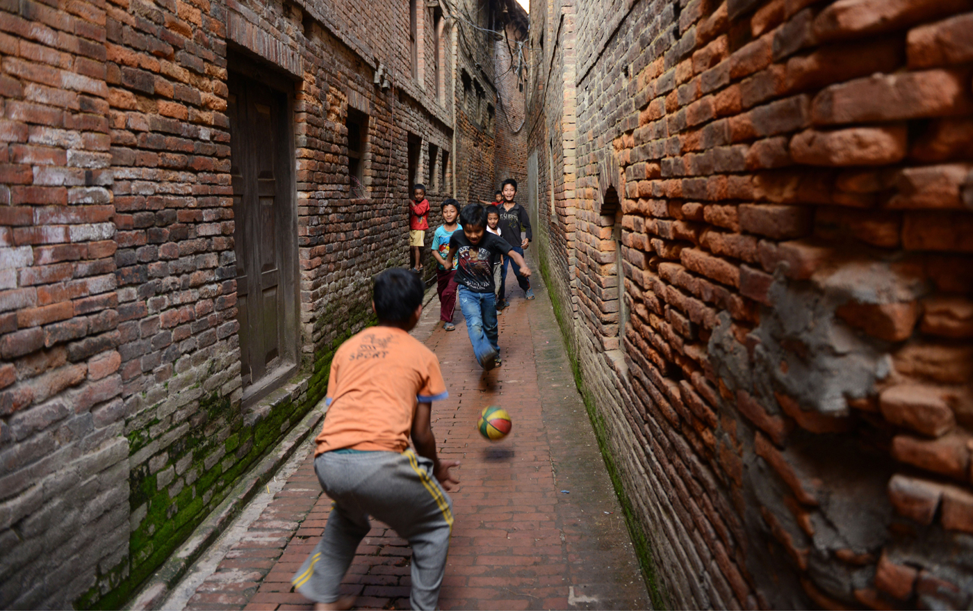 Football? Futsal? If it involves kicking a ball around, they'll play it in Nepal