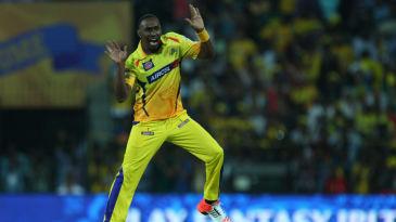 Dwayne Bravo celebrates a wicket with his trademark dance move