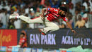 Anureet Singh attempts an acrobatic catch, Kings XI Punjab v Rajasthan Royals, IPL 2015, Pune, April 10, 2015