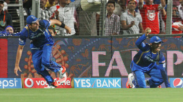 Tim Southee and Karun Nair pulled off a superb relay catch near the boundary