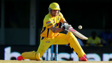 Brendon McCullum ramps the ball for six