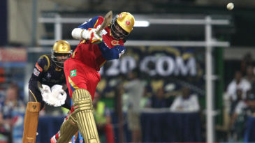 Chris Gayle hits down the ground