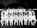 The Australian 1930 Ashes tourists. Back row (left to right): Stan McCabe, Alec Hurwood, Tim Wall, Percy Hornibrook, Alan Kippax, Ted a'Beckett, Clarrie Grimmett, Bert Oldfield; Front row: Don Bradman, Bill Ponsford, Vic Richardson, Bill Woodfull, Charlie Walker, Archie Jackson, Alan Fairfax, May 9, 1930