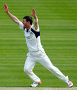 James Harris won three lbws in a devastating spell of four wickets in 11 balls, Middlesex v Nottinghamshire, County Championship Division One, Lord's, April 12, 2015