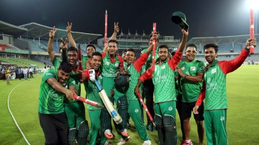 The East Zone players jubilant after sealing the BCL title