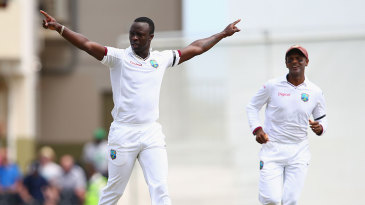 Kemar Roach removed Alastair Cook as West Indies impressed with the new ball
