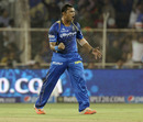 Pravin Tambe struck in his first over, Rajasthan Royals v Mumbai Indians, IPL 2015, Ahmedabad, April 14, 2015