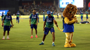 Rajat Bhatia plays around before the start of the match, Rajasthan Royals v Mumbai Indians, IPL 2015, Ahmedabad, April 14, 2015