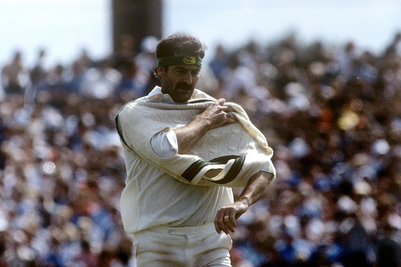 Lillee in the Old Trafford Test of Botham's Ashes: the year his mum thought he might do well to hang it up