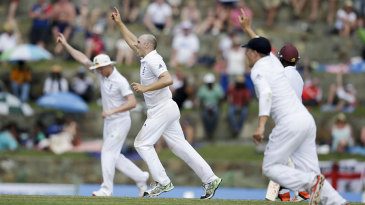 Hands up if you think it's a wicket...James Tredwell strikes again