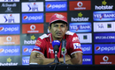 Sanjay Bangar speaks after his team's loss, Kings XI Punjab v Delhi Daredevils, IPL 2015, Pune, April 15, 2015