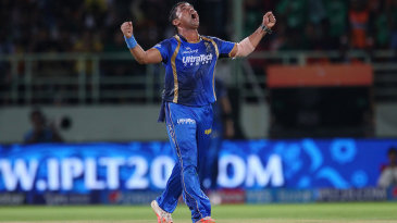 Pravin Tambe finished with 2 for 21 from four overs