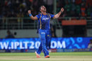 Pravin Tambe finished with 2 for 21 from four overs, Sunrisers Hyderabad v Rajasthan Royals, IPL 2015, Visakhapatnam, April 16, 2015