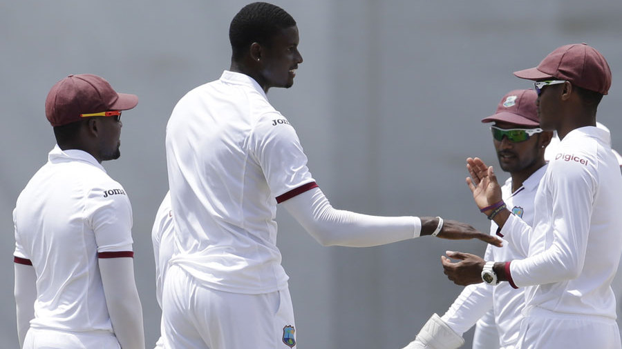 Jason Holder picked up the wicket of Joe Root