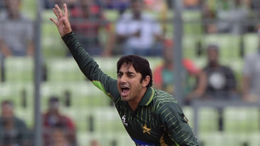 Saeed Ajmal returned to international cricket with a career worst 10-0-74-0