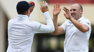James Tredwell and Gary Ballance combined the opening wicket on day five