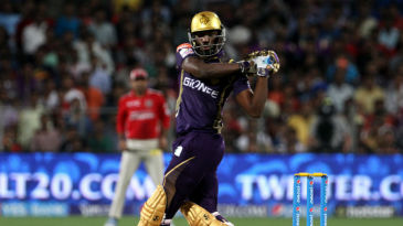 Andre Russell swivels and pulls