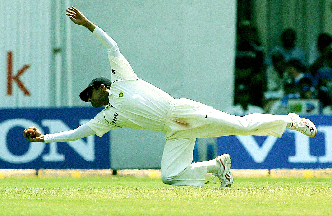 Plucky: Dravid's catching was among the reasons why India started performing better overseas