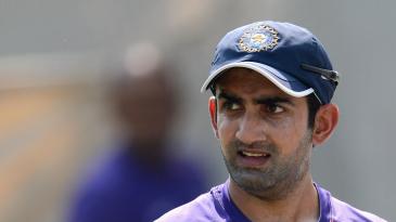 Gautam Gambhir during a nets session