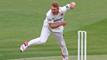 James Porter picked up two wickets on the opening day in just his fourth first-class match