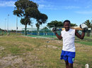 Thokozani Peter by the nets in the township of Langa, Cape Town, January 2015