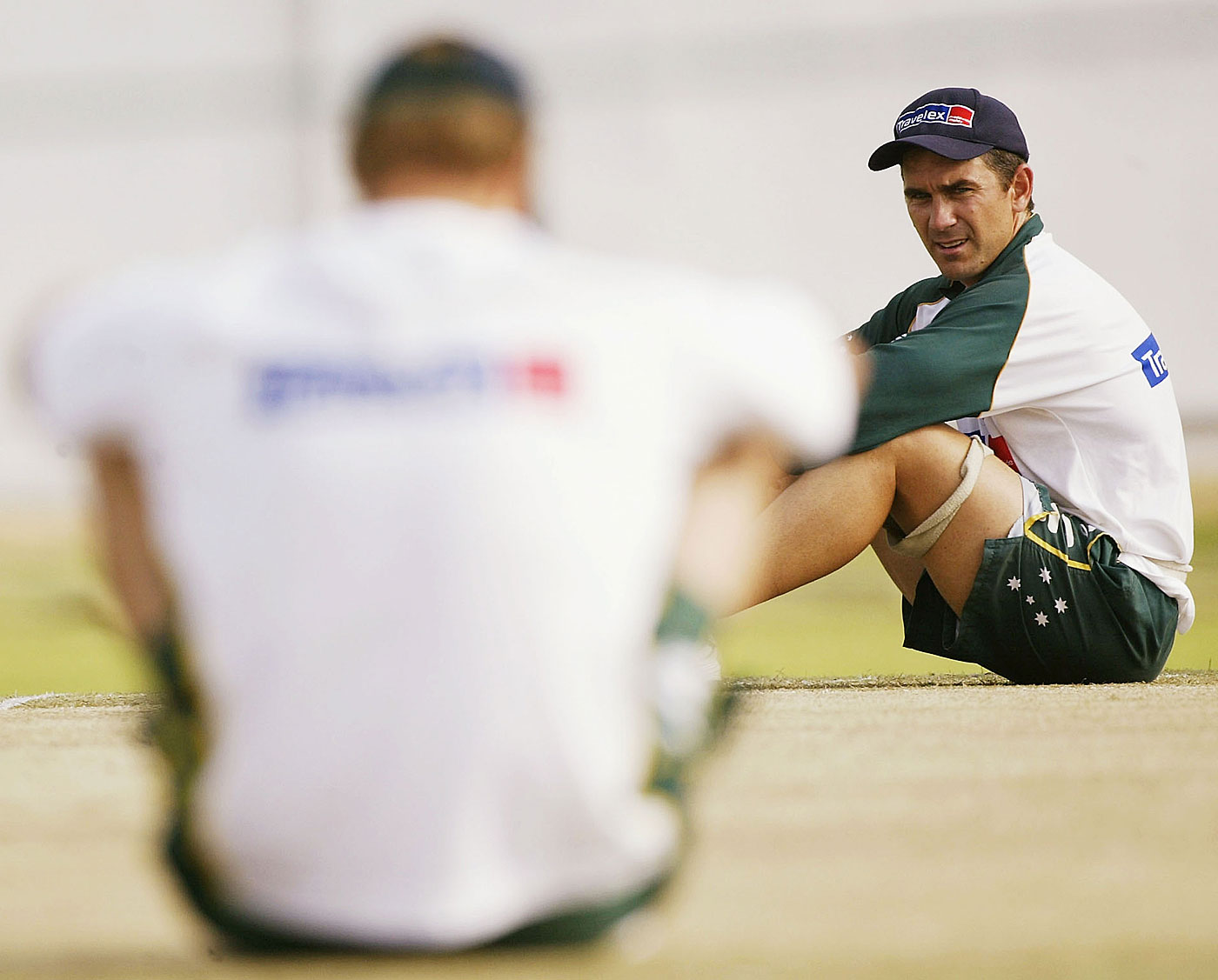 Do not disturb: Matthew Hayden was given to meditating on the pitch the day before a match
