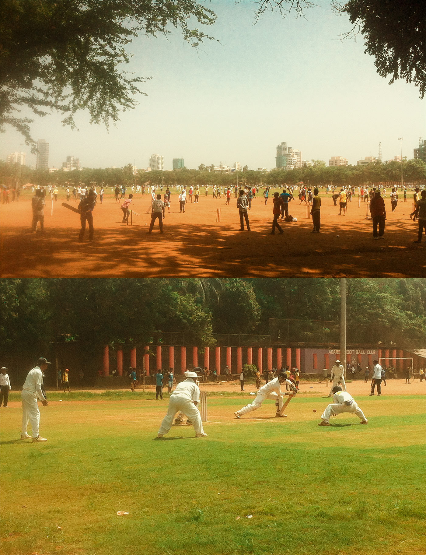 Bat-ball ballads: Mumbai's maidans host cricket matches with all sorts of rules; but the forward defensive (below) isn't forgotten either