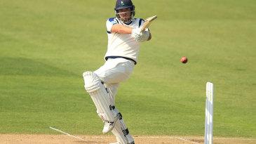Jack Leaning pulls on his way to a century