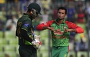 Arafat Sunny celebrates Mohammad Hafeez's wicket, Bangladesh v Pakistan, 3rd ODI, Mirpur, April 22, 2015