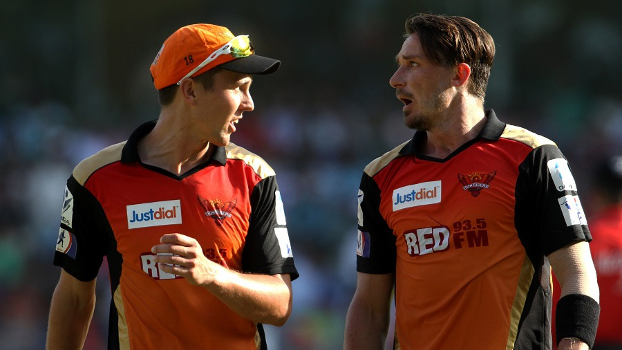 Dream duo: Trent Boult and Dale Steyn bowled together
