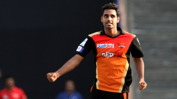 Bhuvneshwar Kumar struck twice in two balls in the last over